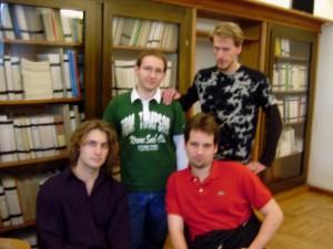 Das Siegerteam (v.l.n.r. Simon, Christoph, Stephan, Dominic)