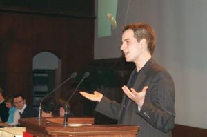 Dominic als Freier Redner im Finale