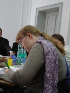 Chefjurorin Pauline bei der Arbeit