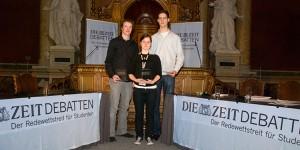 Das Siegerteam im historischen Festsaal der Universität Wien