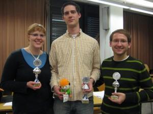 Lachende Sieger: Pauline, Peter, Christoph