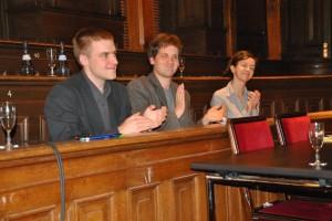 Juror Dominic (Mitte) im Finale