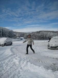 Malerisch im Schnee - unsere Erstihütte 2010