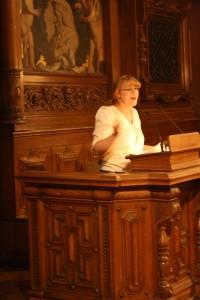 Pauline während ihrer Finalrede