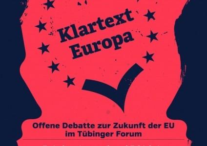 """Klartext Europa""-Debatte in Tübingen"